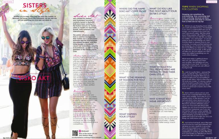 Interview Society Magazine Sisko Akt